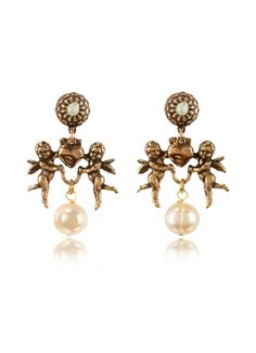 Alcozer & J Heart and Angels Earrings