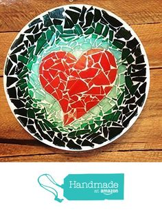Mosaic Red Heart Jewelry / Key Bowl from Great Escape Mosaics http://www.amazon.com/dp/B015P04G5Y/ref=hnd_sw_r_pi_dp_YH7owb19VCJJH #handmadeatamazon