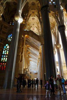 Interiors - Sagrada Familia by Antoni Gaudi