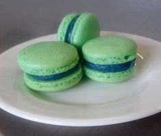 Our local French bakery, Belle Epicurean, celebrating the Seahawks' Super Bowl win with blue and green macarons