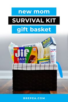 Wondering what to put in a new mom survival kit care package? If you're looking for useful gifts for new moms, this DIY postpartum gift basket is it. Diy Gifts For Mom, Presents For Mom, Gifts For New Moms, New Mom Survival Kit, Survival Kit Gifts, New Mom Gift Basket, Diy Gift Baskets, Diy Postpartum, Boyfriend Graduation Gift
