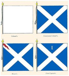 Company Colours of the Scottish Regiment of Foot Guards circa. Military Uniforms, Military History, 17th Century, Tanks, Armour, Spanish, British, War, Colours