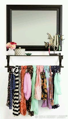 DIY: Idea for your scarves... Closet Organization.