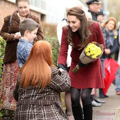 The Duchess of Cambridge arrives in Pontypool, Wales, during her visit to MIST, a child and adolescent mental health project. MIST is part of Action for Children, which supports vulnerable families in Wales and across the UK. . . . Photo: Chris Jackson / Getty Images  #duchess #duchesscatherine #duchessofcambridge #royal #royals #royalfamily #royalty #wales #mentalhealth #flowers #PicturesOfTheDay #POTD #photography #news #newsphoto #Telegraph