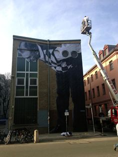 JR has been busy in Germany where he completed several new pieces on the streets of Berlin.