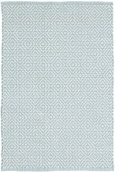 Dash & Albert | Beatrice Blue Woven Cotton Rug | Bunny Williams fell in love with this subtle diamond pattern, and interpreted it on an easy-care, woven cotton rug, part of her collection for Dash & Albert. The woven cotton rug in a soft blue hue is at home almost anywhere, from cozy guest rooms to sophisticated offices.
