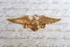 Large Matte Gold Ox Americana Eagle Stamping (1) - GOS4063 Jewelry Finding