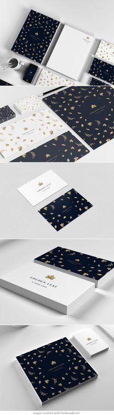 Golden Leaf Branding by Daniel Lasso Casas nice Logo Design, Web Design, Brand Identity Design, Graphic Design Typography, Branding Design, Design Art, Corporate Branding, Corporate Design, Design Graphique