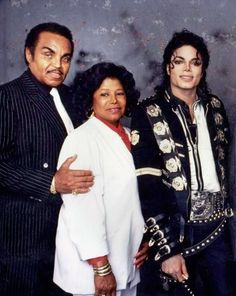 Michael Jackson with his parents, Joe and Katherine Jackson.