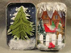 Holiday Christmas Santa's Workshop North Pole Shadow Box Trinket Keepsake on Etsy, $38.00