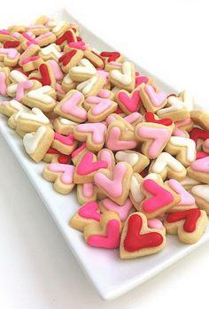 tiny heart cookies!