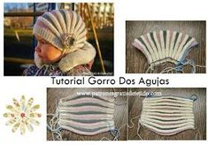 Stricken Gorro dos agujas casquillo ruso paso a paso ༺✿ƬⱤღ✿༻, Loom Knitting, Baby Knitting, Knitting Patterns, Crochet Stitches, Knit Crochet, Crochet Hats, Wooly Hats, Knitted Hats, Knit World