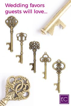 Make your wedding even more unique and memorable with these gorgeous vintage key bottle openers! This is likely a gift family and friends have not gotten anywhere else, and they will love the functionality of it. It's something they will keep and remember you by for years to come! Shop today and get FREE SHIPPING. | Rustic Wedding Favors for Guests | Simple DIY Party Decorations Souvenirs | Outdoor Backyard Ideas On A Budget | Wedding Shower + Reception #weddings #partyfavors #uniquegifts
