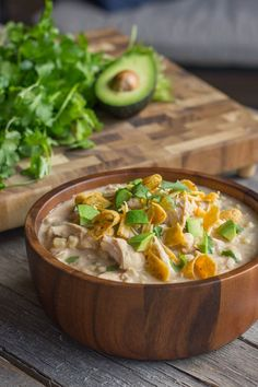 Creamy Crockpot White Chicken Chili - Lovely Little Kitchen