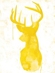 Oh Deer - Yellow - Urban Road - Urban Road..I wonder if I could do a moose with something like this..
