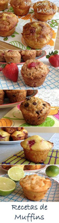 Una recopilación de las recetas de muffins de Muy Locos Por La Cocina. Puedes encontrarlas en www.muylocosporlacocina.com.