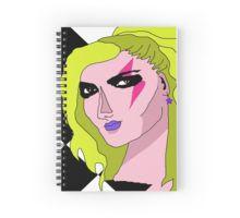 Glam Rock Goddess Face Spiral Notebooks