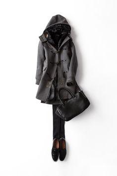 寒いときはとことん重ねます 2014-01-15 | duffle coat brand : Scye http://www.scye.co.jp/# | Daff Jacket brand : Herno http://www.herno.it/ | skirt brand : Michael Kors