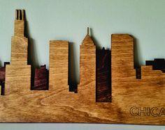 Chicago Skyline String Art  Chicago Art  Illinois Art