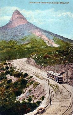 Kloof Nek to Camps Bay Tramway Author Unknown - Copyrights have expire. Cape Town South Africa, Camping Photography, Camping Activities, Most Beautiful Cities, Africa Travel, Old Pictures, The Great Outdoors, Places To See, National Parks