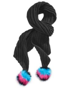 Betsey Johnson xox Trolls Knit Scarf with Pom Poms, Only at Macy's