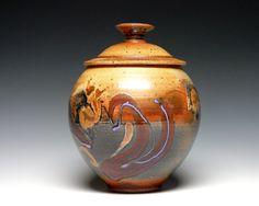 Memorial Urn, Large Pottery Urn, Large Covered Jar, Stoneware Cremation Urn, Pottery Storage Jar, Kitchen Canister, Ceramic Cookie Jar by KathleenLeSueur on Etsy https://www.etsy.com/listing/286869687/memorial-urn-large-pottery-urn-large