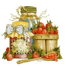 Making Jelly......painting by Diane Knott