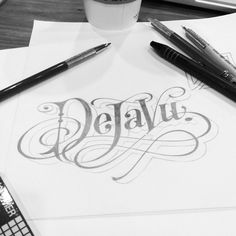 Matthew Tapia, lettering and graphic artist Typography Sketch, Typography Letters, Typography Logo, Graphic Design Typography, Lettering Design, Logos, Design Letters, Letras Cool, Schrift Tattoos