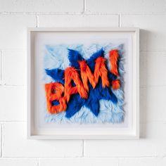 BAM! Paper Artwork, Framed Artwork, Spray Paint Artwork, Pencil Nails, Free Patent, Deep Box Frames, Free Museums, Holographic Foil