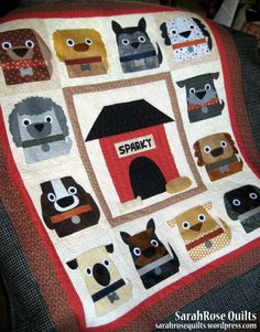 My latest pattern Dog Days is out today! Dog Days Applique Quilt Pattern by SarahRose Quilts  sarahrosequilts.wordpress.com
