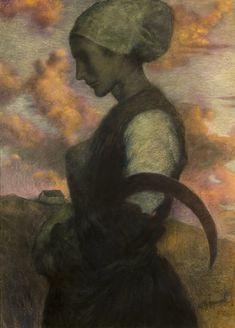 LA PRIERE AU CREPUSCULE, VERS 1890