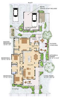 First Floor Plan of Bungalow   Cottage   Craftsman   Traditional   House Plan 30508