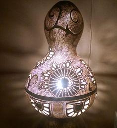 Handmade Gourd Lamp Gourd Light Turkish Lamp Unusual Gift Ideas
