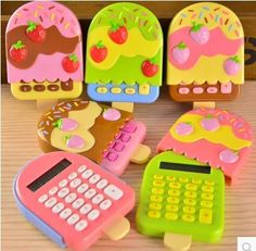 calculadora sorvete ice cream calculator Cute Cartoon Kawaii calculator school supplies 9.5X6.5CM 40g calculadora-in Calculators from Computer & Office on Aliexpress.com | Alibaba Group