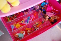 Organizing Barbies – the perpetual planner Barbie Storage, Barbie Organization, Toy Storage, Organization Hacks, Organizing Tips, Toys For Girls, Getting Organized, Playroom, Amanda