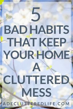 Want to know the big difference between those with cluttered, messy homes and those with mostly clutter-free homes? Good habits can put a clutter-free home on autopilot for you. And bad habits can ensure that you stay stuck in a cluttered mess. Organisation Hacks, Clutter Organization, Organizing Tips, Organizing Paper Clutter, Organization Store, Household Organization, Storage Hacks, Organizing Your Home, House Cleaning Tips