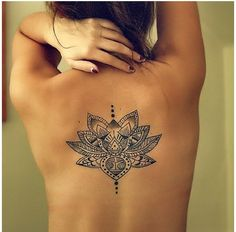 Lotus mandala - back.