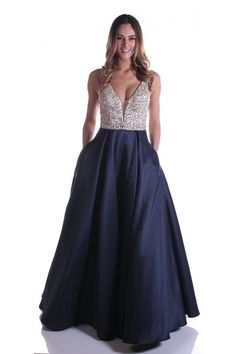 Indulge your upscale aesthetic with this sumptuous formal by Nina Canacci 3134 #ithaspockets Gowns For Rent, Cruise Dress, New Designer Dresses, Military Ball Dresses, Dress Rental, Evening Dresses, Formal Dresses, Pageant Gowns, Stunning Dresses