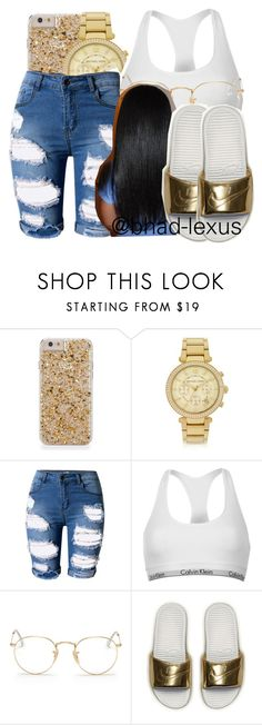 """✨ b e h o l d"" by bhad-lexus ❤ liked on Polyvore featuring Michael Kors, Topshop, Calvin Klein, Ray-Ban and NIKE"