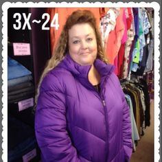 Plus Size 3X 24 Purple Winter Coat Welcome to YOUR Plus Size Exchange- where big is the new black! We carry everything from L/12-5X/32-36W including your favorite shoes and accessories. Bundle 3 or more items & save 20%. If you see & want an item, but disappears  that means it sold at our boutique. So, HURRY-- hot items sell fast. Find us on FB. Sorry, ❌NO Trades or ❌PayPal! Happy Poshing! We ❤️ YOU! - Team BBW Faded Glory Jackets & Coats