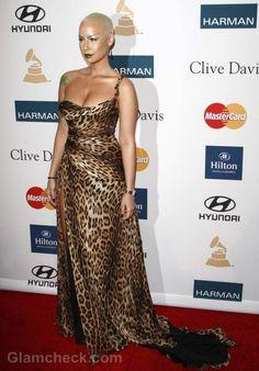 Amber Rose Dons Daring Animal Print Gown