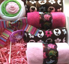 Owl Theme Baby Girl Shower Gift Set of 10. $24.95, via Etsy.