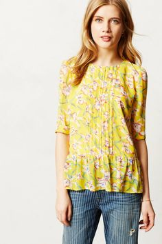 Rosalia Peplum Top - anthropologie.com
