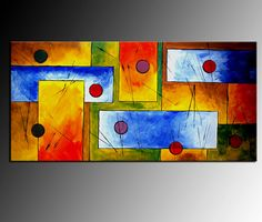 Huge Original Abstract Painting Thick Painted on by ANDYARTSTUDIO