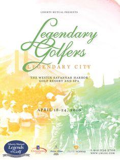 Liberty Mutual Legends of Golf Poster by Amanda Roberts, via Behance