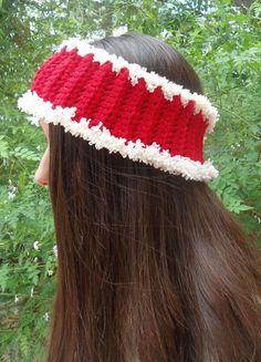 Crocheted Headband  Christmas Headband  Cosy Ear by CRAZYBOOM