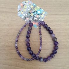 A personal favorite from my Etsy shop https://www.etsy.com/listing/280833626/purple-beaded-bracelet-double-strand
