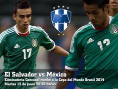 Eduardo Zavala y Severo Meza, jugadores que irán de titulares en el partido El Salvador vs México, provenientes de la cantera albiazul. ¡Orgullo de #Rayados!
