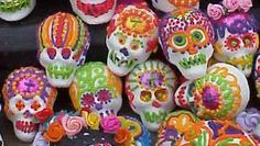 """Mexican sugar skulls for the Dia de los Muertos (the """"Day of the Dead""""--All Souls' Day)"""