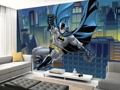 then adding a stunning feature wall using one of our batman wallpaper